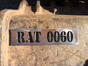 ID tags for excavator attachments