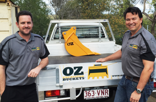 Paul Burns and Chris Low from OZ Excavator Buckets