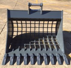 6.0   9.9T 1200mm Sieve Bucket with 100mm x 100mm Hole spacings (2) web
